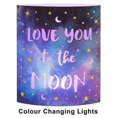 Starlight LED Colour Changing  Lantern - Love you to the Moon